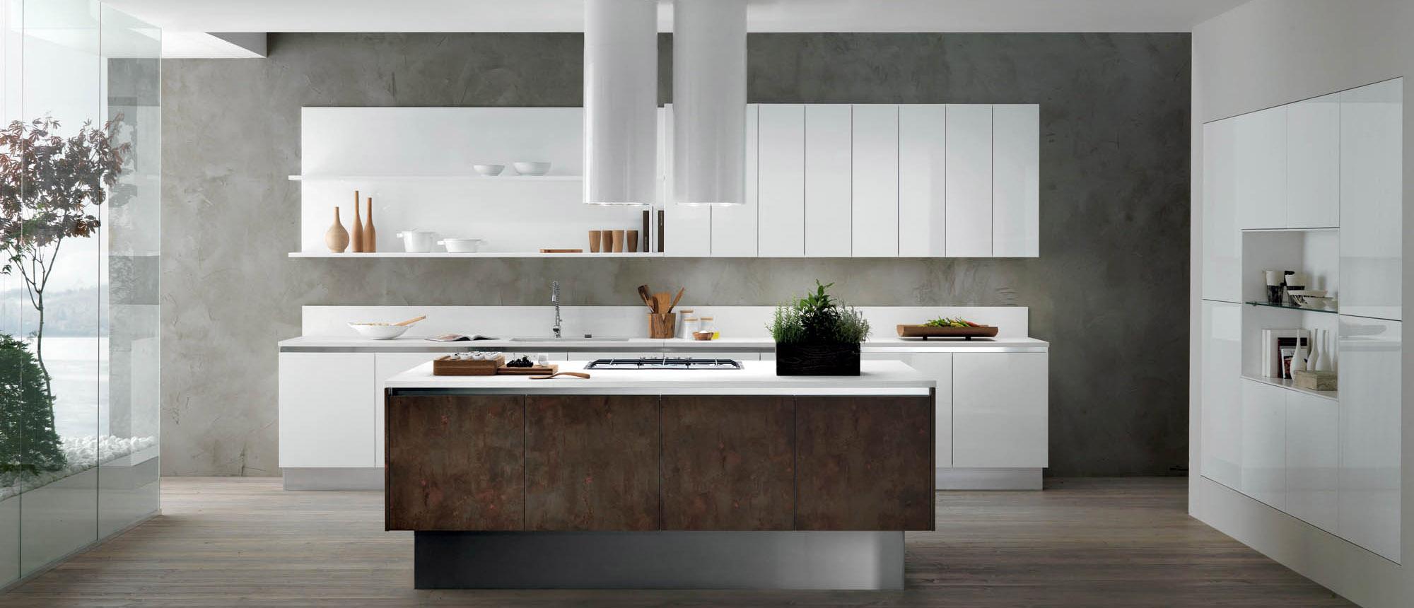 Cucine mobili de pianto - Cucina bianco lucido ...